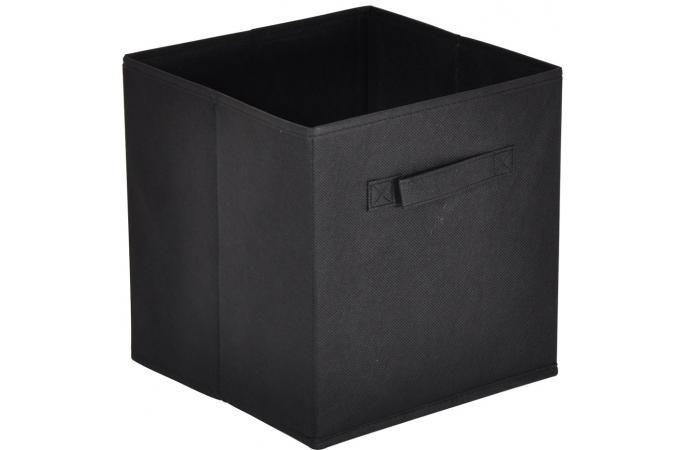 Panier Tiroir Tissu Noir CARMELO, deco design