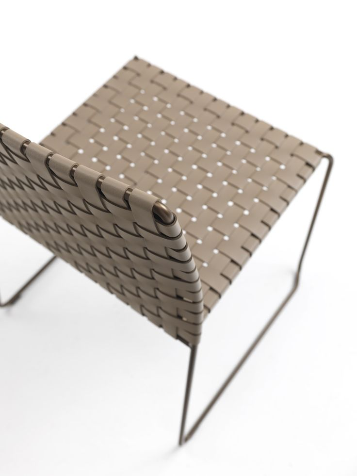 Bizzy Leather woven chair