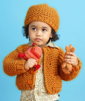 With this knitted cardi and hat your child is sure to be the cutest kid on the block. Just sit back and let the play date requests roll in!!!