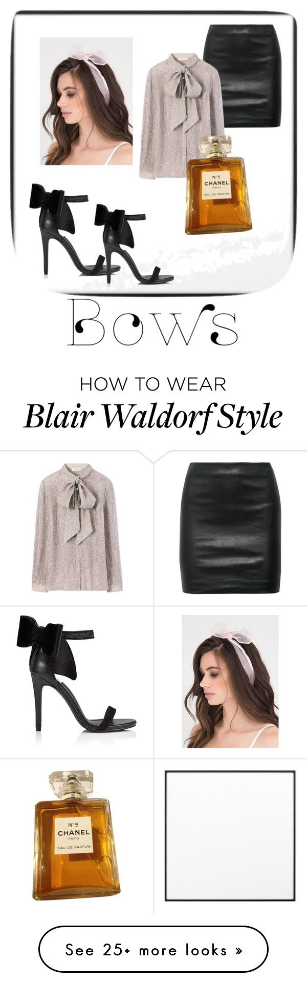 """BOWS: Blair Waldorf Edition"" by carylvondrea on Polyvore featuring By Lassen, The Row, Tory Burch, Miss Selfridge and Chanel"