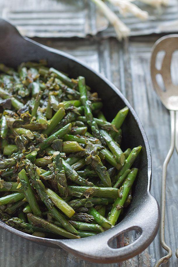 Asparagus and Caramelized Spring Onion Saute | Slim Palate