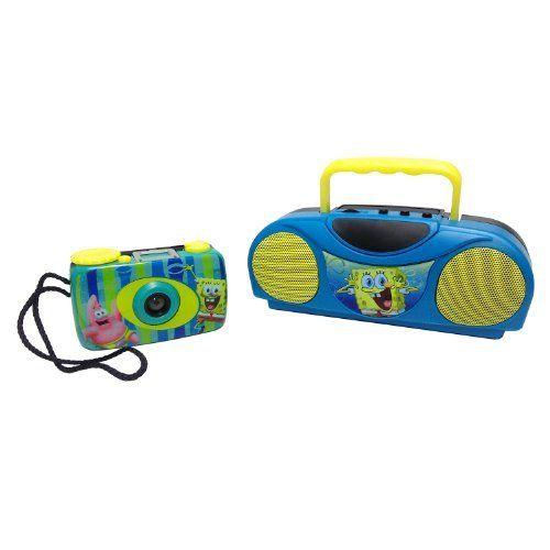 Nickelodeon SpongeBob Squarepants Camera and Radio Kit @ niftywarehouse.com #NiftyWarehouse #Spongebob #SpongebobSquarepants #Cartoon #TV #Show