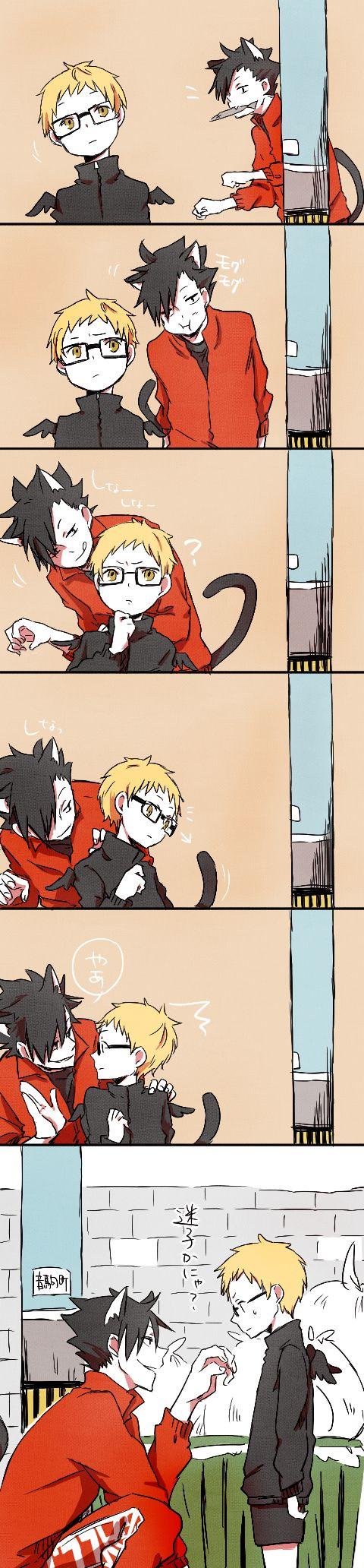 Tsukishima and Kuroo