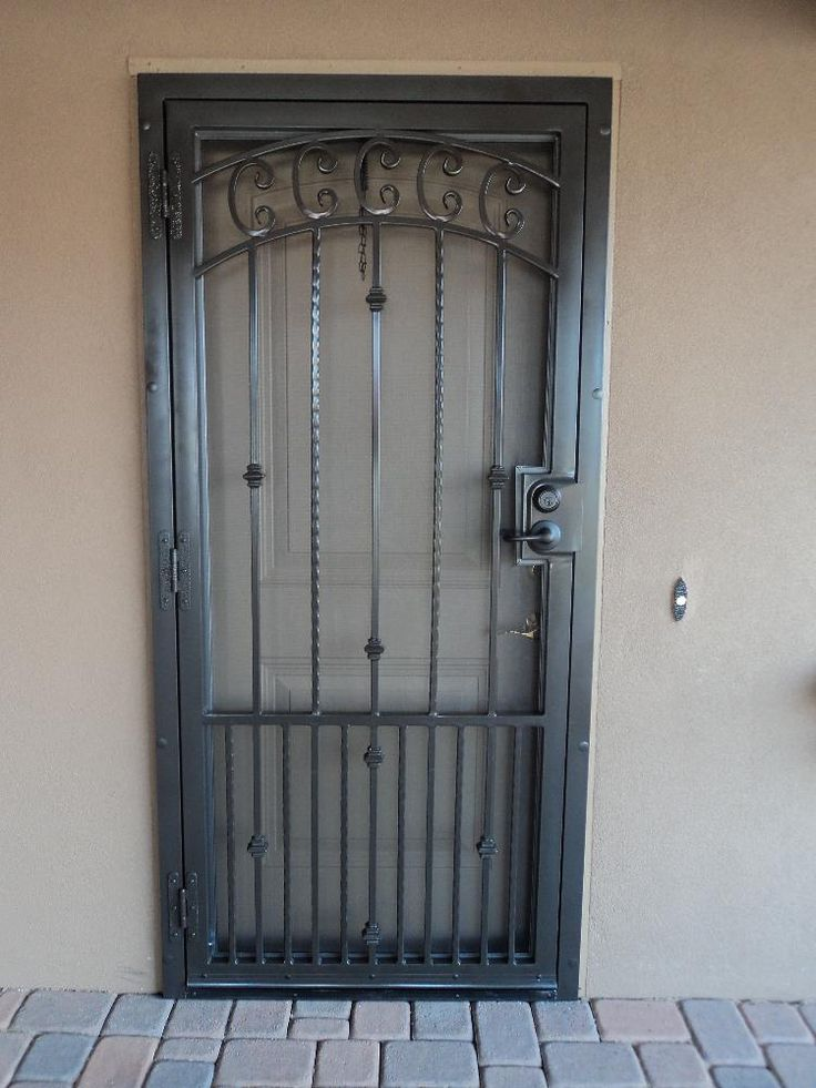How to paint a security screen door ://.ehow.com & 54 best Burglar bars images on Pinterest | Security screen doors ... Pezcame.Com
