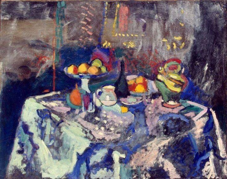 Henri Matisse - Vase, Bottle and Fruit, 1906