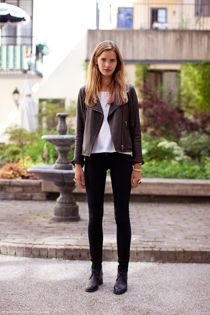leather + white + pants + boots