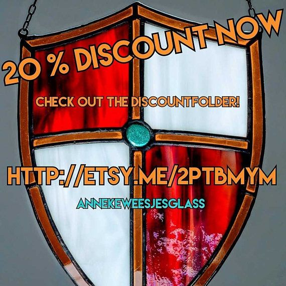 Tiffany Glas in lood Tiffany Keltisch wapenschild in gekleurd