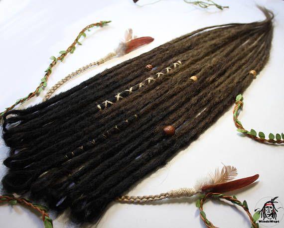 Ombre naturelle crochetée dreads synthétiques unique terminés