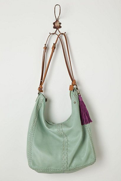 Anthropologie Dipped Mint Hobo