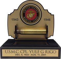 21 GUN SALUTE GUN SHELL CASING DISPLAY