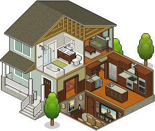 isometric house #pixelart