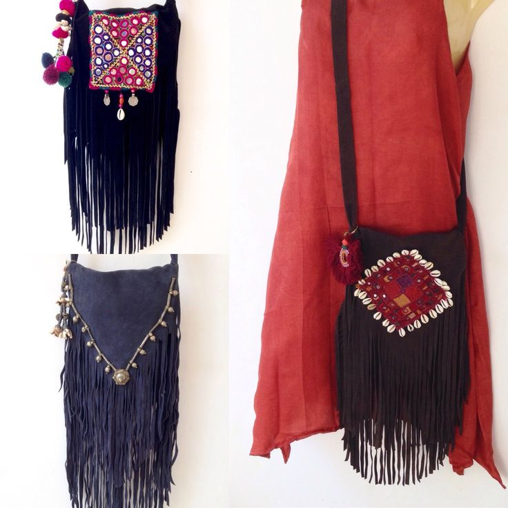 👛I'm having so much fun accessorising these fab & fun Indian leather fringe bags for our IndiBlu Boutique online! $50 + FREE 🌎Worldwide Shipping during the month of March!! 👛 Great for your spring and summer wardrobe 🌸