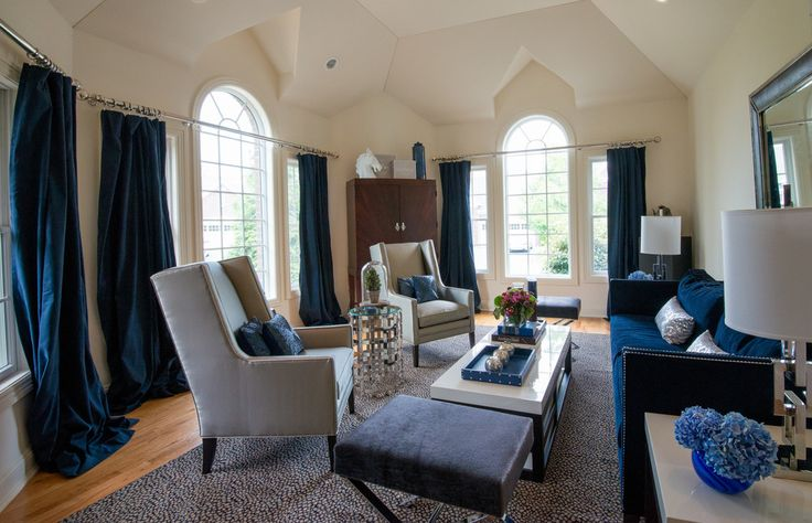 Elegant Navy Blue Curtains Method New York Transitional Living Room Innovative Designs With Bar Cabine Navy Blue Living Room Blue Living Room Navy Living Rooms