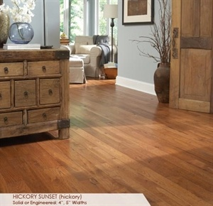 """Somerset American Country Plank Hickory 4"""" Hickory Sunset- $6.94 sq/ft"""