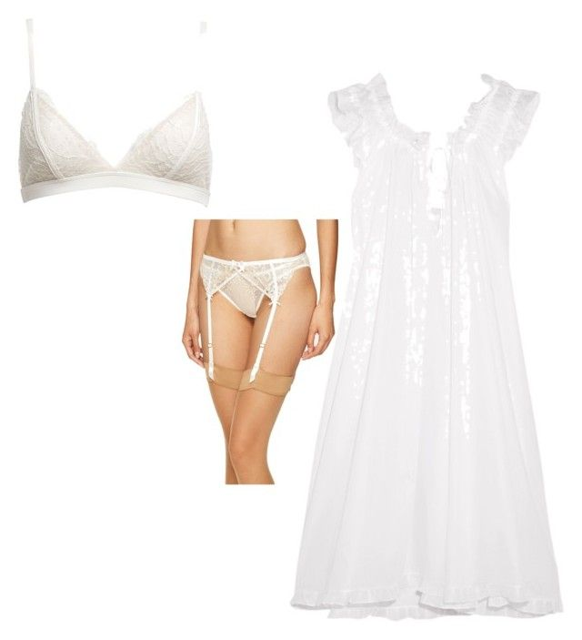 """""""Honeymoon night"""" by trilby-chan on Polyvore featuring L'Agent By Agent Provocateur, Morgan Lane and Three Graces"""