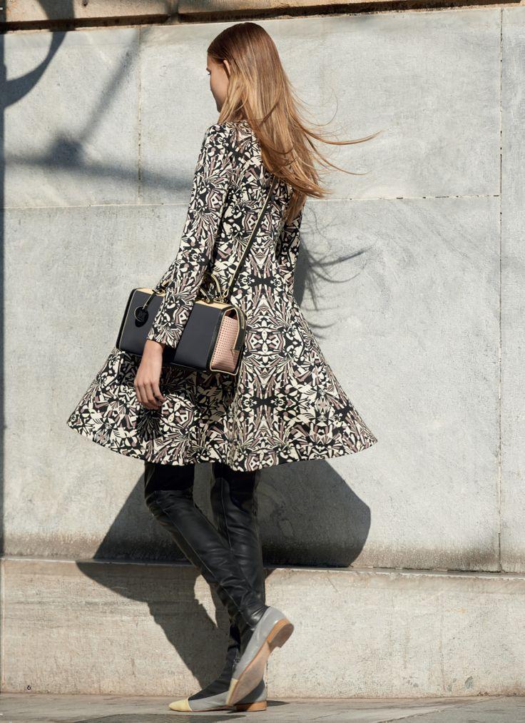 #MMissoni Catalogue | ART DECO' PRINT DRESS | Fall 2014 Collection