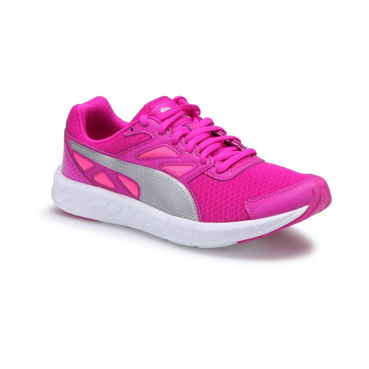 Puma DRIVER WN S ULTRA MAGENTA Pembe Gümüş Kadın Koşu Ayakkabısı - Spor Ayakkabı - Kadın