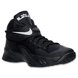 Men's Nike Zoom LeBron Soldier 8 Basketball Shoes | Finish Line | Black/Metallic Silver