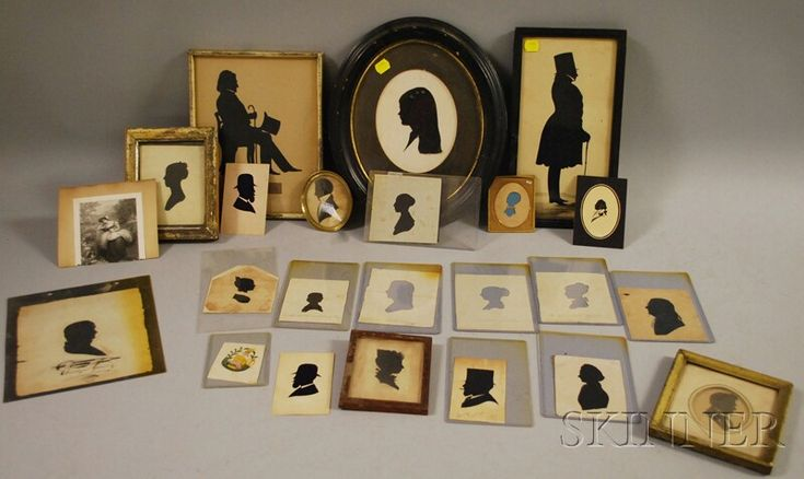 Antique Silhouettes up for auction...Looks like a fantastic collection.