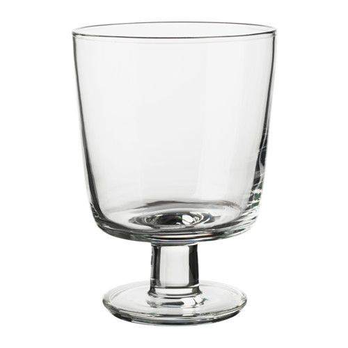 $1.50 IKEA 365+ Wine glass IKEA Also suitable for hot drinks. Can be stacked inside one another to save space in your cabinets when not in use.