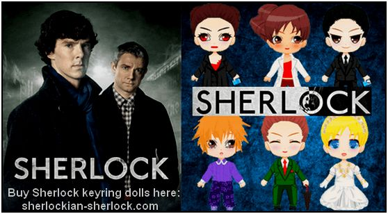 BBC Sherlock keyring doll collection
