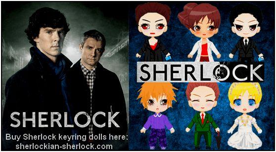 BBC Sherlock keyring doll collection