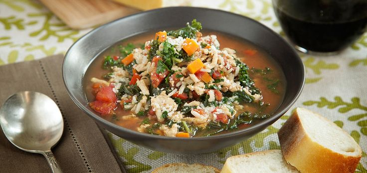 If you're after lighter fare that won't leave you hungry, this soup will satisfy your soul. It's loaded with lean turkey, antioxidant-packed kale and hearty brown rice. The unique flavor comes from a
