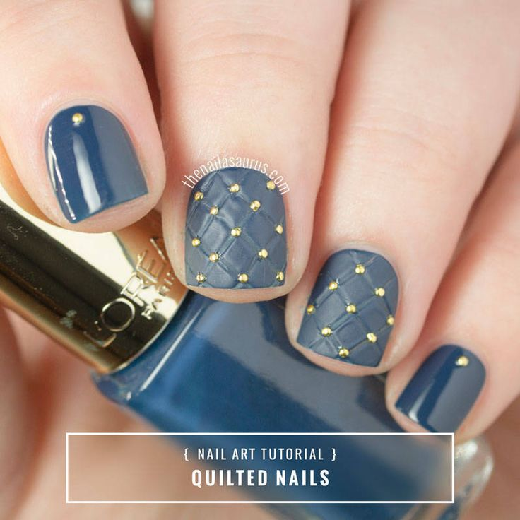 Sammy / 7th December 2015Quilted Nail Art TutorialQuilted Nail Art Tutorial | The Nailasaurus | UK Nail Art Blog