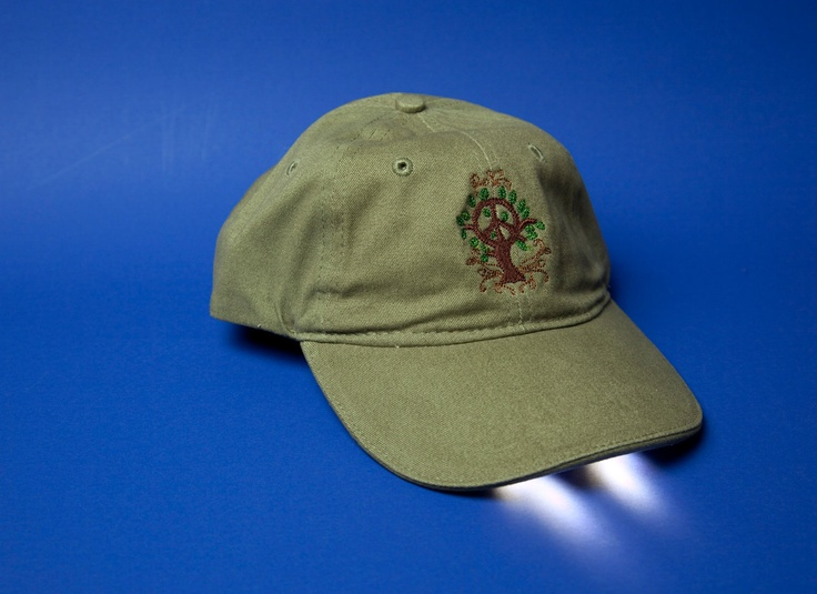 """PEACE and QUIET Lighted Hat  """"Great for a night walk"""". $24.95, via Etsy."""