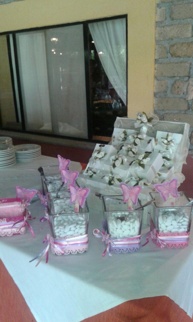 Confettata farfalle rosa fucsia e Lilla -