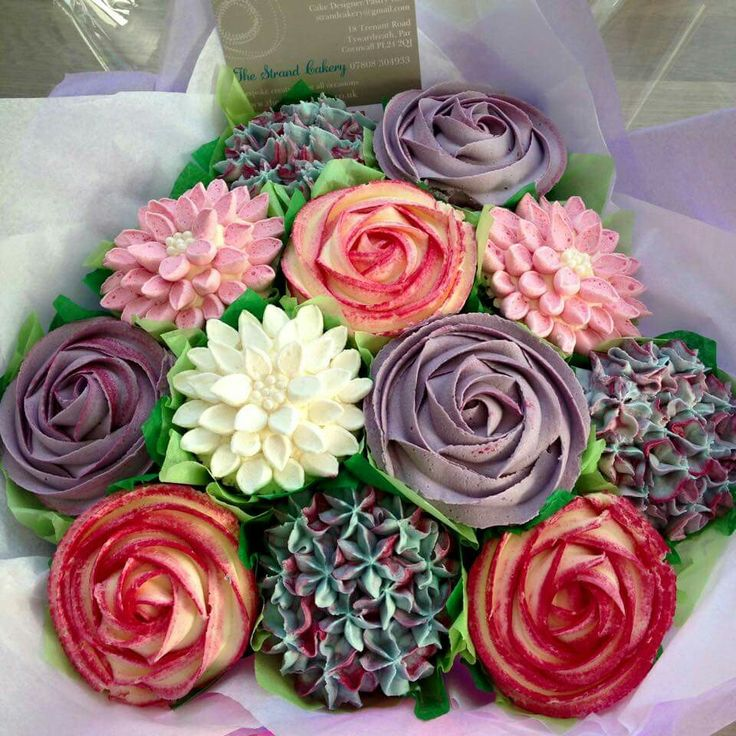 The strand cakery cake bouquet gorgeous cupcake