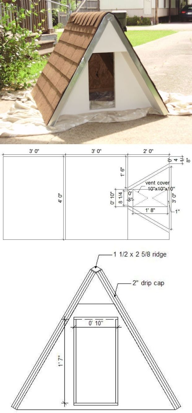 Woof! Awesome DIY Dog Houses Build an insulated A-Frame doghouse for under $75