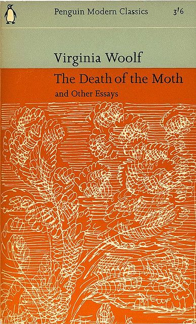 Virginia Woolf, The Death of the  and other Essays, 196-. Cover design adapted from Vanessa Bell's jacket for the first edition.
