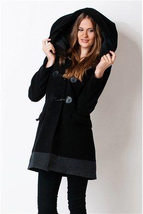 Női kabát, fekete - Claudia Fabri | Stilago
