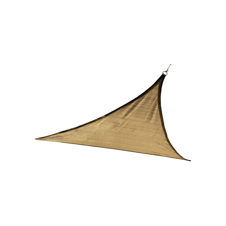 Shelter Logic Triangle Sun Shade Sail Sand 12' 160 gsm, Light Brown