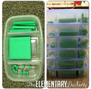 The Elementary Darling: Weekly Organization Link Organizing Base Ten Blocks
