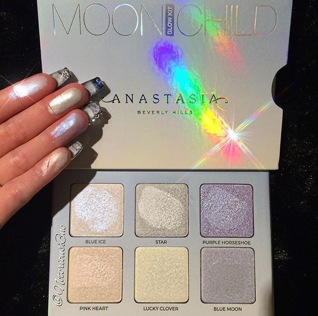 Pretty snimmer Anastasia Moonchild palette. Pretty as accents, or eye look for photoshoots/themes