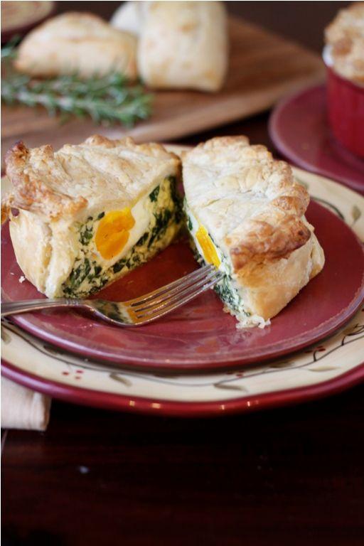Torta Pasqualina (Easter Pie)    spinach, ricotta, parmesan, garlic, eggs