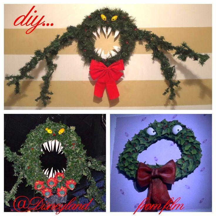 Nightmare Before Christmas Man-Eating Wreath Tutorial NEW