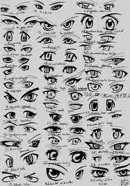 Many more anime eyes