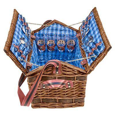 """Weiden-Picknick Korb """"Summertime"""" für 4 Personen - 604032"""