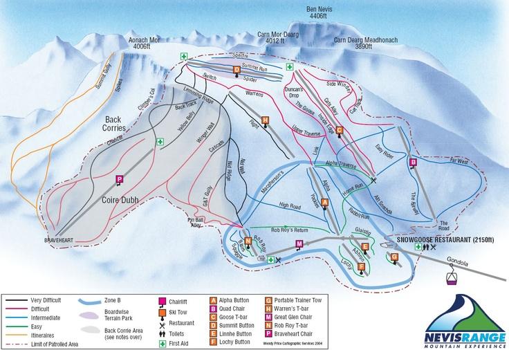 Nevis Range Piste Map