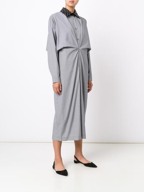 J.W.Anderson studded collar shirt dress