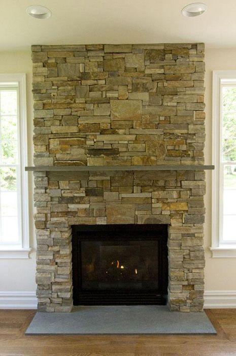Best 25 stone veneer fireplace ideas on pinterest - Stone veneer fireplace ideas ...