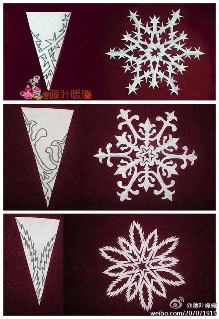 intricate patterns for snowflakes