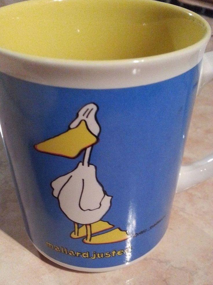 """""""Mallard Justed""""    Ducktales by John Baron Coffee Mug Tea Cup - Vintage 1985"""