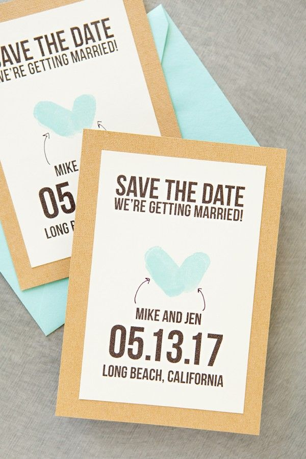 thumbprint save the date - get the free printable!!