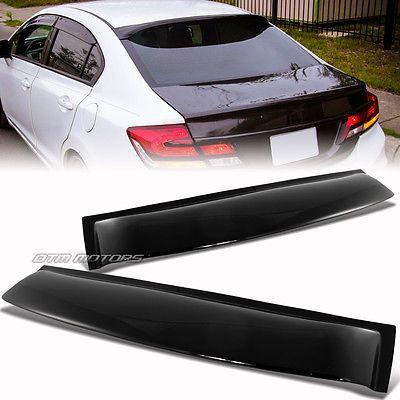 For 2006-2015 Honda Civic Sedan ABS Plastic Black Rear Roof Window Visor Spoiler