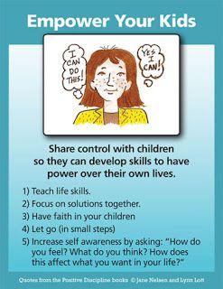 Positive Discipline: Helpful Hints For Empowering Vs. Enabling