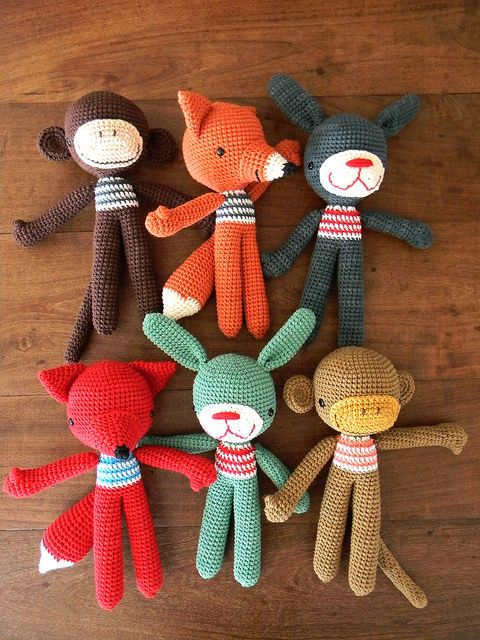 I could make these! If I use a needle and thread and make each body part individually these could be really cute!